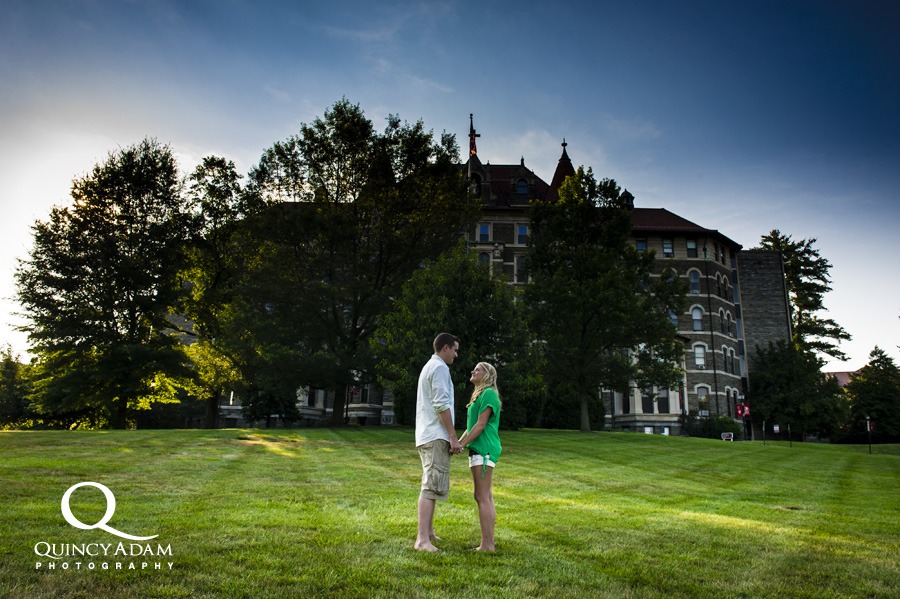 Carley and Mike - Chestnut Hill College Engagement Session, Fairmount Park Engagement Session - Quincy Adam Photography