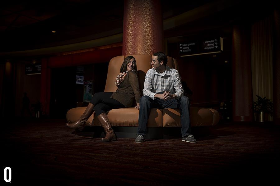 Rachel & Andrew - Philadelphia Race Park - Parx Casino Engagement Session